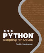 Click image for a larger image of Python Scripting for ArcGIS cover