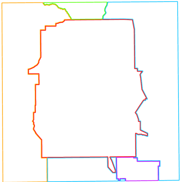 Example of Polygon Outline Symbology