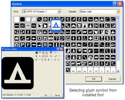 Select glyph