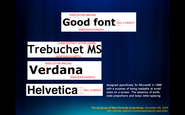 Good Web Fonts