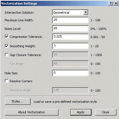 Getting Better Vectors - Vectorization Settings