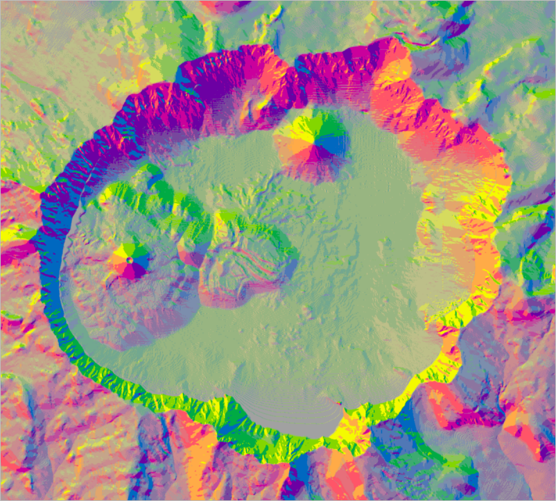 Features shown with the aspect-slope colors