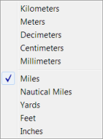 Scale Bars - distance units