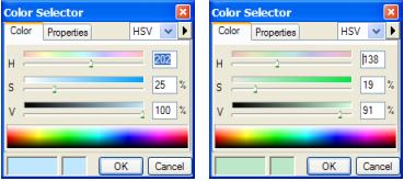 Figure-ground - HSV colors