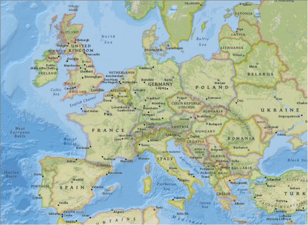 NGBasemap - Europe