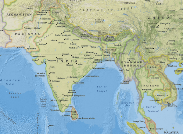NGBasemap - India