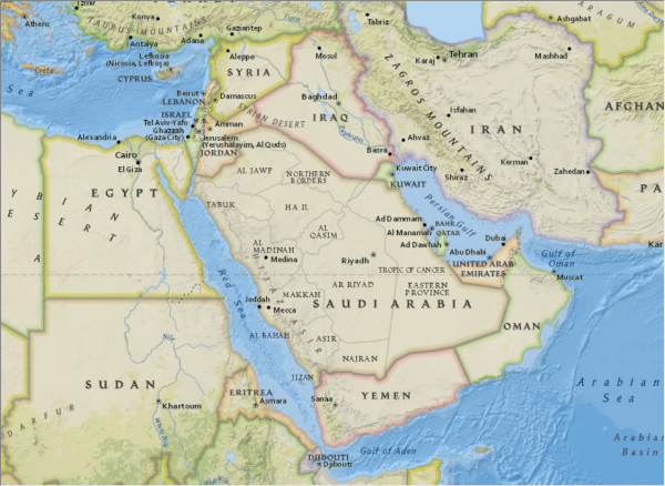 NGBasemap - MIddle East