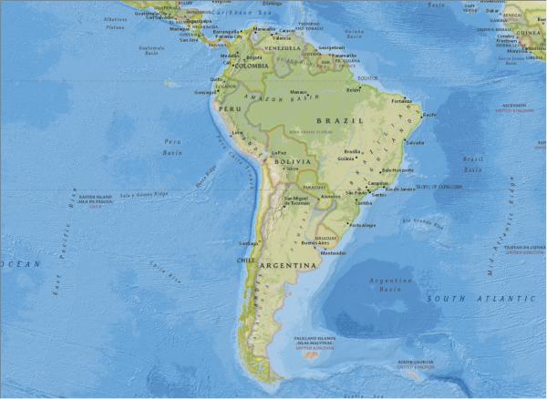 NGBasemap - South America