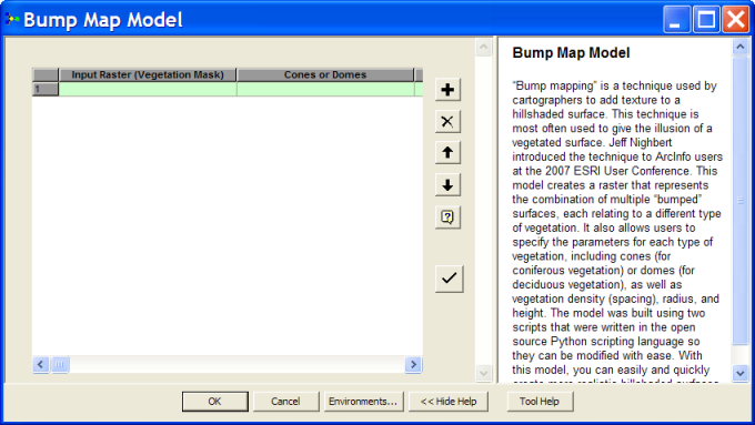 Bump Map Model Interface