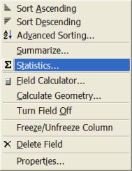Tables Statistics