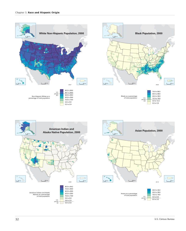 Census Atlas Race And Hispanic Origin Map Page 1