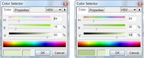 DOO - HSV Color Modifications