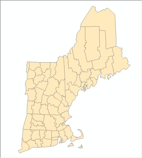 Virtual Dissolve - New England Counties