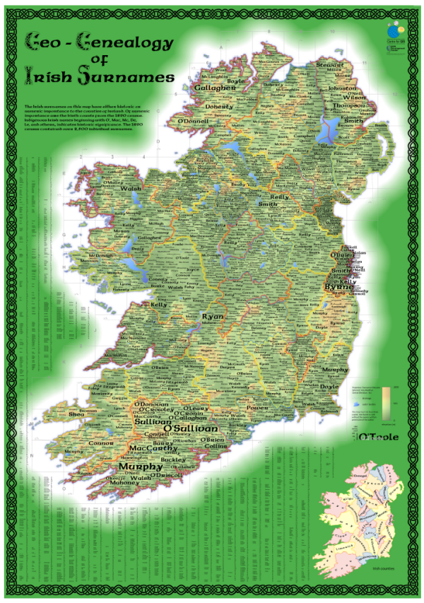 Irish Surnames Whole Map