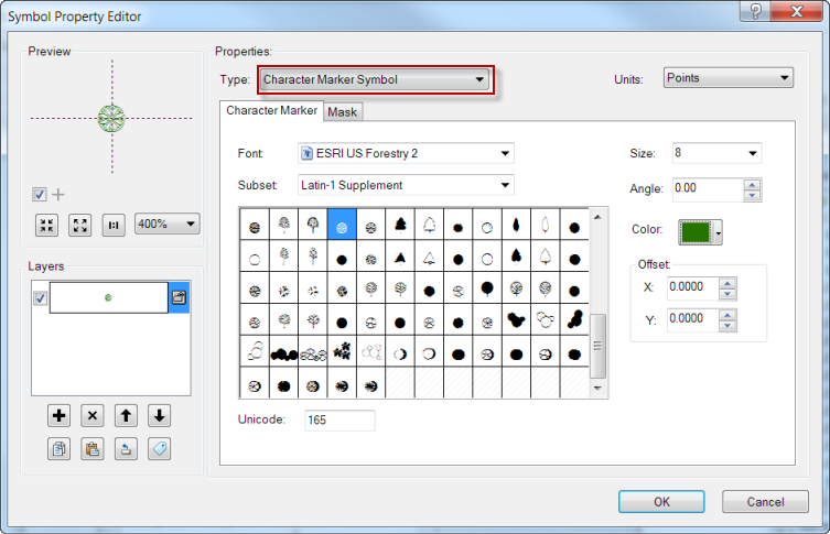 Fonts in ArcGIS Symbols - Figure 2