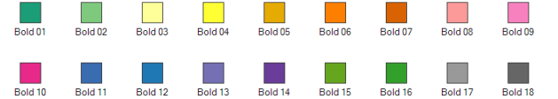 Canvas Map Color Styles - Bold