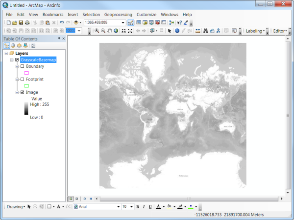 Grayscale - ArcMap view