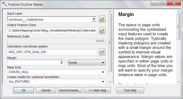Variable Depth Masking - Feature Outline Masks