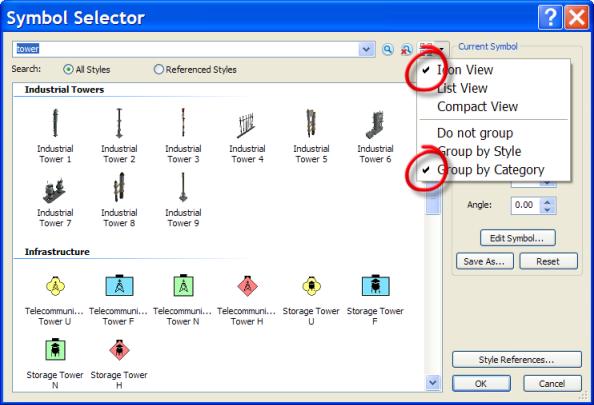 Symbol Selector View