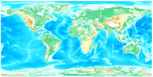 ETOPO1 Bedrock Data