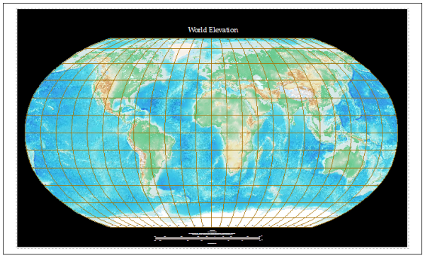ETOPO1 World Elevation Map