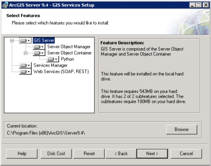 GIS services setup