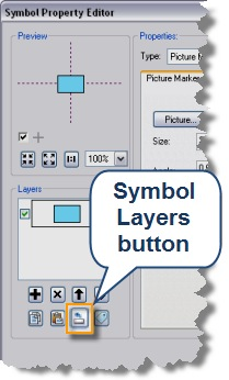 Symbol layers button