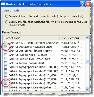 Raster file format properties