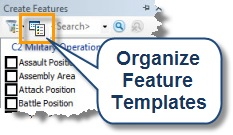 Organize Feature Templates button