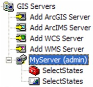GIS server connection in ArcCatalog