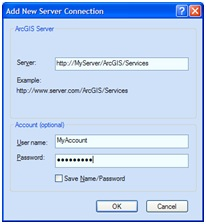 Connecting to the server in ArcGIS Explorer