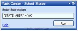 The completed task running in ArcGIS Explorer
