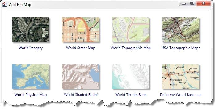Esri map gallery