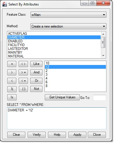 Select By Attributes