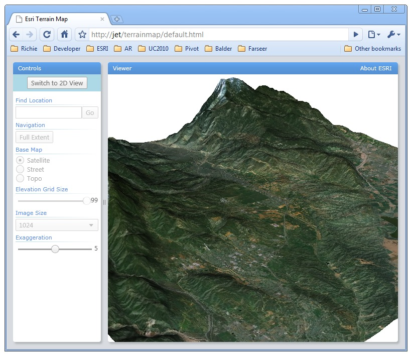 3D Terrain Mapping in a Browser