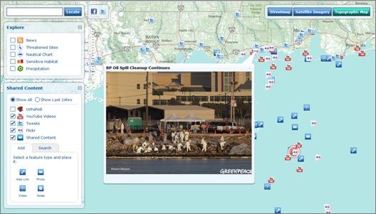 VGI Web map with photo