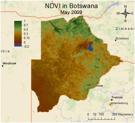 NDVI in Botswana