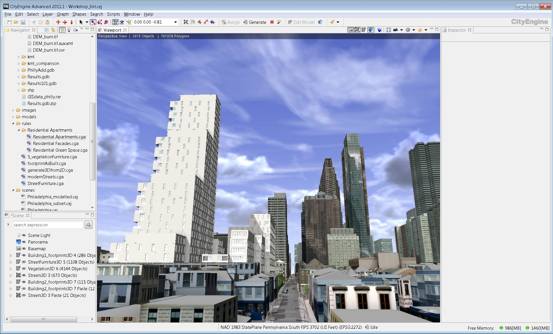CityEngine Urban Planning Example now available for download