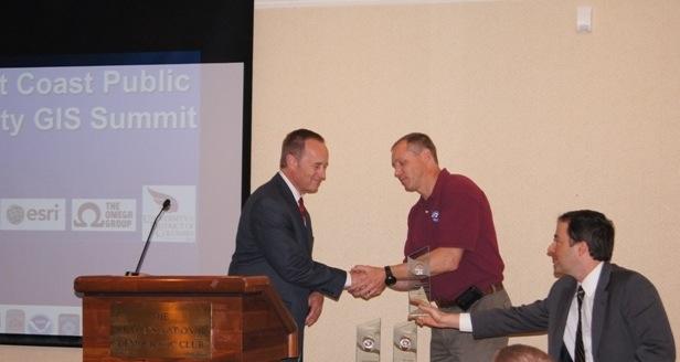 Sierra Madre SAR volunteer received award on behalf of the SAR-GIS group
