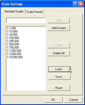 Loading in a list of scales
