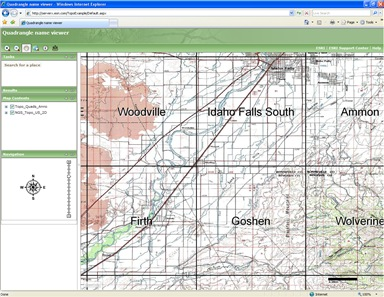 Topographic map boundary viewer