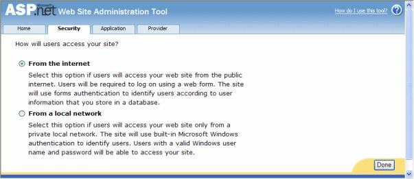 WSAT Security option