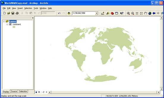 World Aitoff projection in ArcMap