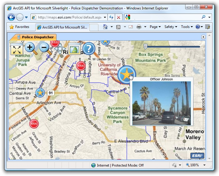 Police Dispatcher on Microsoft Surface | GeoNet, The Esri