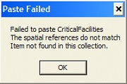 Paste Failed Error
