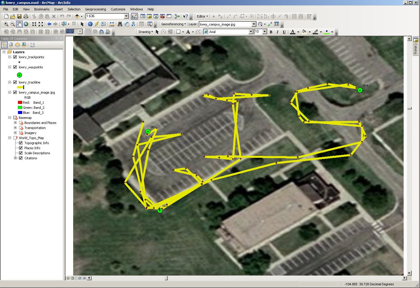 Education 2017 june geonet as you can see in the arcmap session above i drew the words gis with my receiver i often include gps drawing while working with teachers and students fandeluxe Image collections