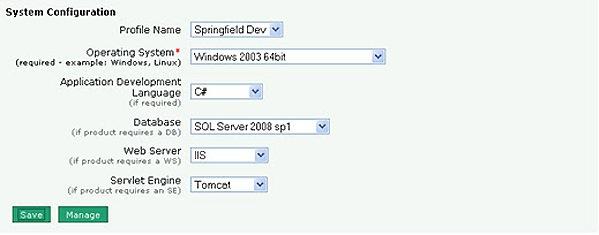 system config dialog box
