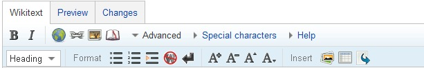 editing toolbar