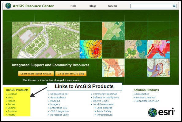 Resource Center landing page with products highlighted