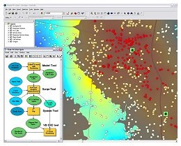 ArcGIS hot spot analysis map